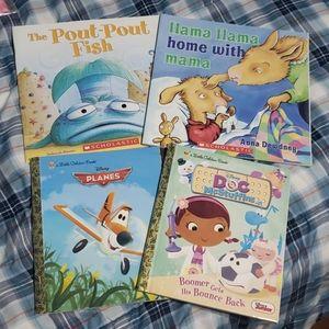 4 Kids book lot Planes Llama Llama Mcstuffins NWOT